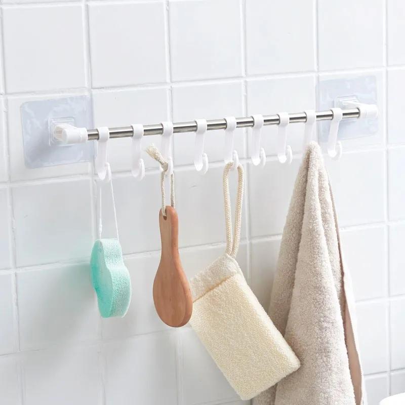 【加粗不锈钢】免打孔挂钩浴室厨房门后挂钩卫生间粘墙面强力粘钩