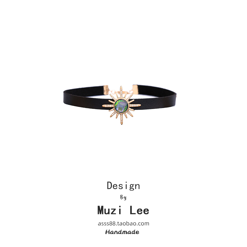 Muzi Lis simple and lovely temperament neck chain female Japanese and Korean fashion style personality versatile fashion dress neck belt