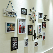 Creative Living Room Photo Wall Decoration Bedroom Background Photo Wall Free-punching Album Photo Frame Wall Combination