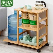 木馬人移動茶臺茶幾柜茶水間小桌子客廳家用茶杯具泡茶桌簡約現代
