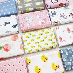 纯棉布料婴儿宝宝全棉a类卡通床品床单被套面料斜纹棉布清仓处理