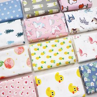 纯棉布料宝宝卡通床品被套面料斜纹棉布清仓处理四件套可加工定制品牌