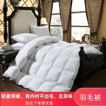 白鹅绒被芯鹅绒被酒店鸭绒被被保暖加厚双人被子冬被95苏珊羽绒被