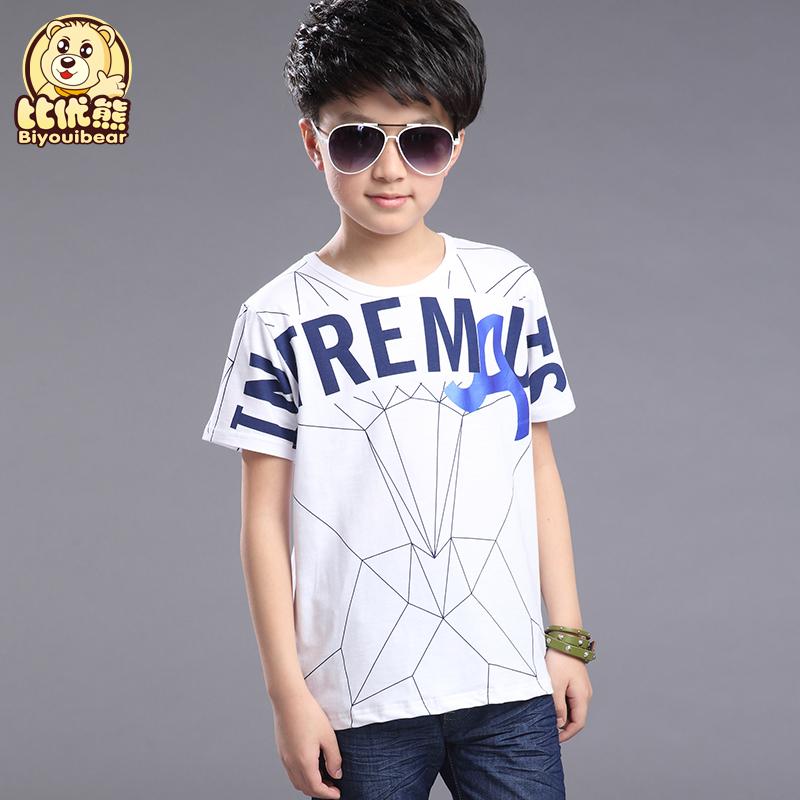 男童兒童12~15歲青少年恤衫