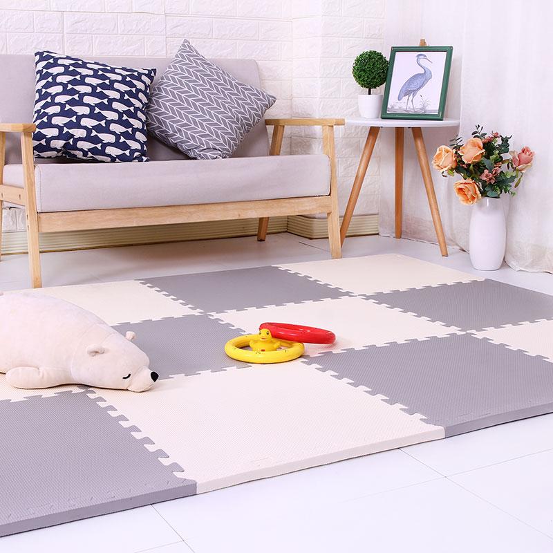 五折促销泡沫垫子爬行垫婴儿卧室拼接地垫