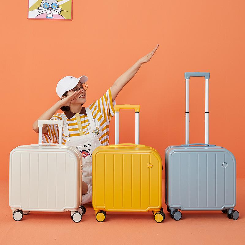 行李箱女小型轻便2021年新款登机箱18寸拉杆箱万向轮密码旅行箱子
