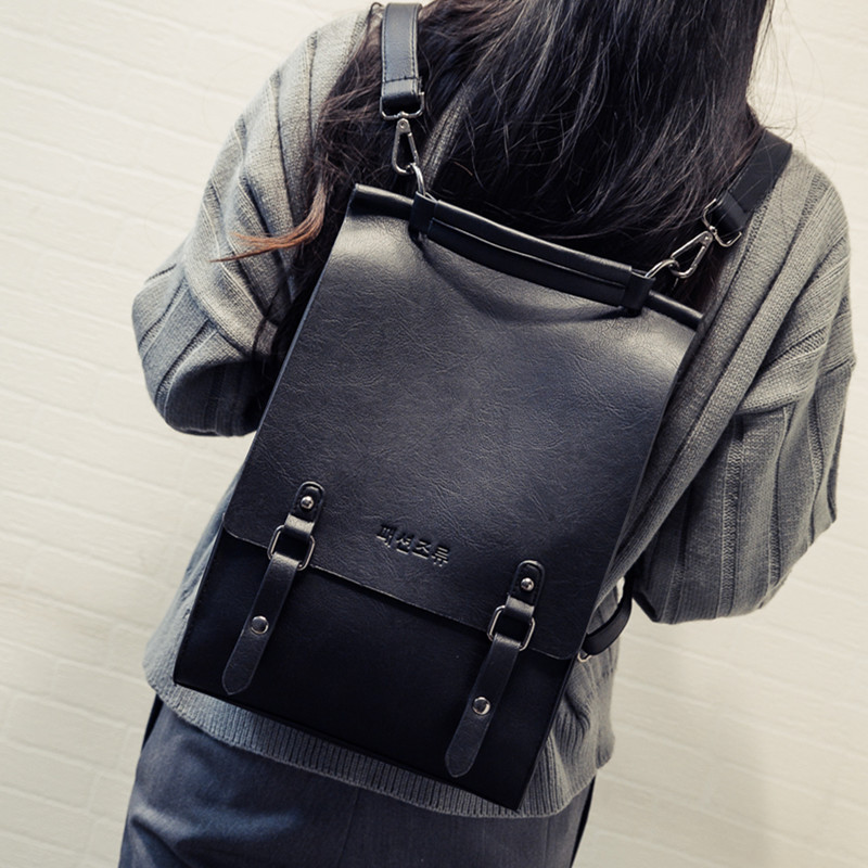 2018 new Korean womens backpack retro college style backpack casual styling versatile simple bag
