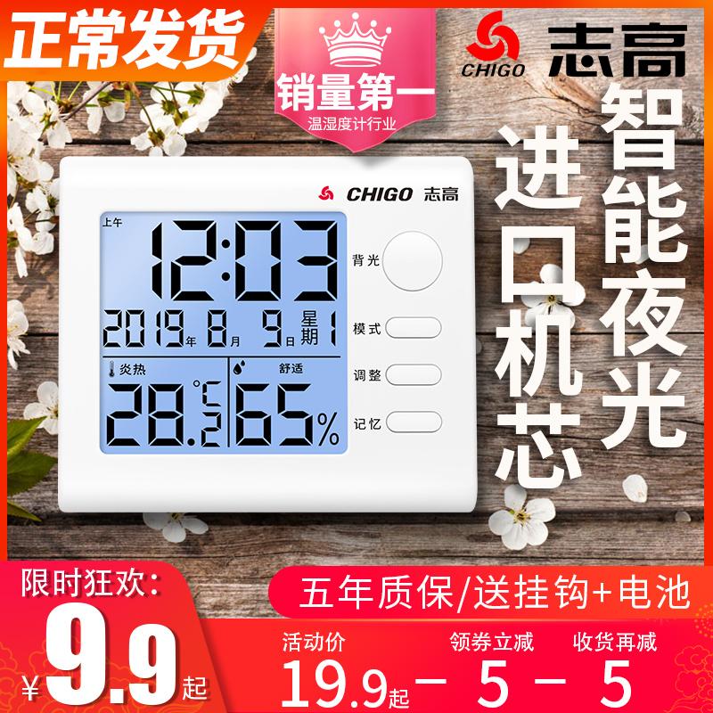 志高精准温湿度计室内家用高精度干湿婴儿房室温壁挂式电子温度计图片