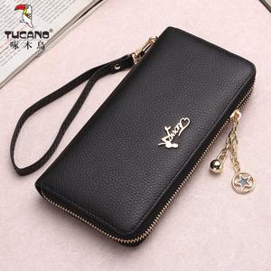 啄木鸟新款女士钱包长款拉链手机包包韩版手包时尚实用大容量女包图片
