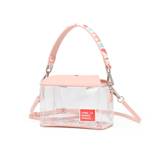 VENUCO Simple Square Bag Young Girl Bag 2019 New Fashion Transparent Bag Box Bag