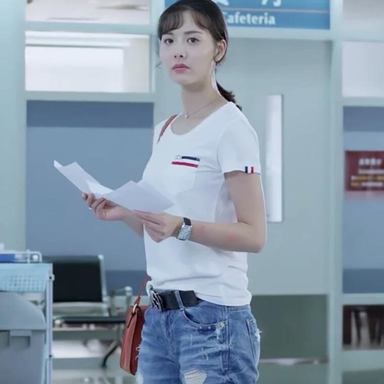 梅花儿香电视剧袁梅花同款明星原雨白色T恤衣服圆领上衣学生百搭