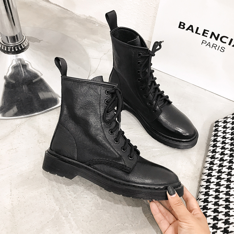 Spring and autumn leather, Martin boots, women's English style, women's boots, spring and summer thin breathable single boots, spring short boots, women