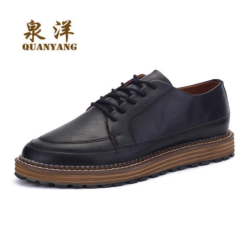 英倫 小皮鞋棉鞋青年 鞋潮流百搭板鞋複古潮男鞋子