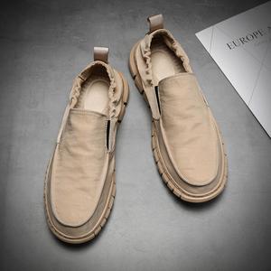 帆布鞋男夏季男鞋韩版潮流休闲鞋子百搭一脚蹬懒人鞋透气男士布鞋