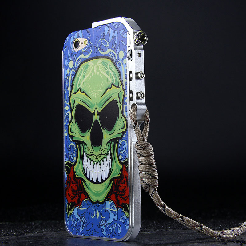 KANENG Mechanical Arm Trigger Aluminum Bumper Metal Frame Cameo PC Back Case Cover for Apple iPhone 6S/6 & iPhone 6S Plus