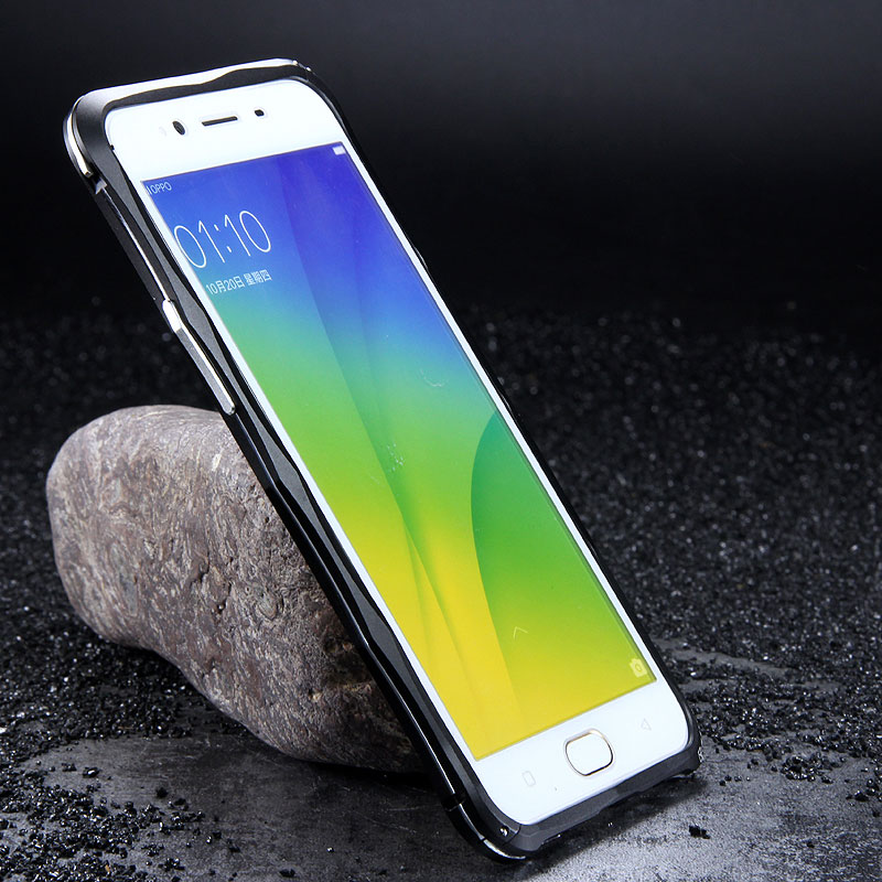 iMatch Slim Light Aluminum Metal Shockproof Bumper with Kickstand for OPPO R9s & OPPO R9s Plus