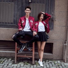 Lovers' spring suit 2019 new ins mix and match Korean jacket loose baseball suit lovers' coat spring and Autumn