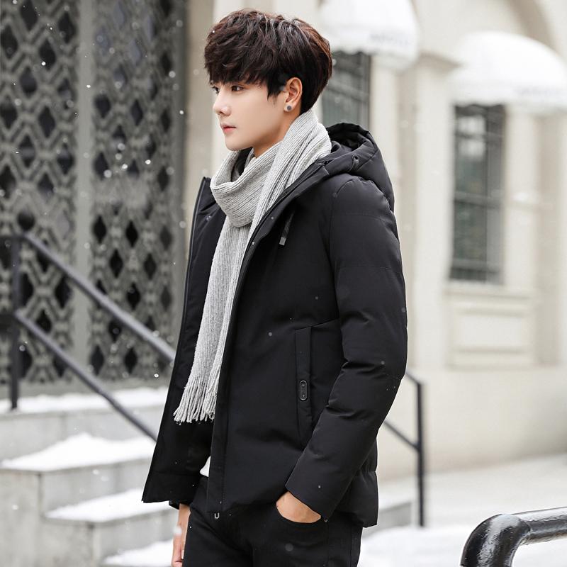 秋冬季棉衣男士冬装新款加厚棉服男修身连帽外套潮流百搭港风棉袄