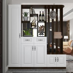 进门风水玄关柜一体客厅镂空鞋柜
