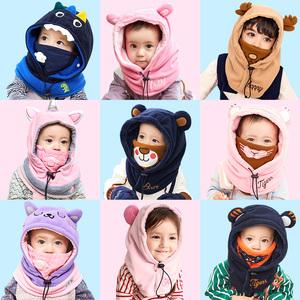 帽子+围脖+口罩!柠檬宝宝 儿童 毛绒帽 券后39元包邮