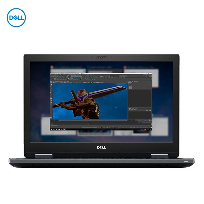 【新品】戴尔(DELL) Precision7740 工作站VR图形显卡设计笔记本17.3 可选八核I9-9980HK/RTX3000 6G显卡