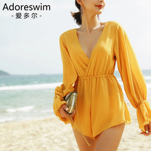 Adore South Korean ins conservative cover stomach show thin hot spring swimsuit fairy Style Sexy split swimsuit women's three piece set