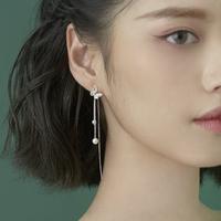 查看小麋人925显脸小纯银耳线女款蝴蝶流苏耳环长款耳钉森系ins中国风价格