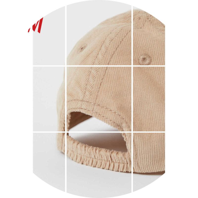 HM 童装婴儿幼童宝宝配饰帽子2020夏装新款灯芯绒鸭舌帽 0890480