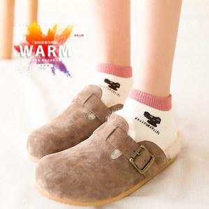 袜子女士加绒短袜低帮秋冬款加厚棉袜女冬季毛巾袜保暖女袜毛圈袜