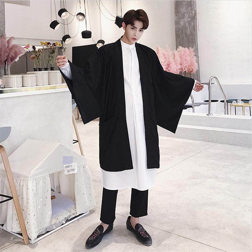 Dark mens loose large Gothic cardigan hairdresser personalized cloak Yamamoto Yaosi cloak coat