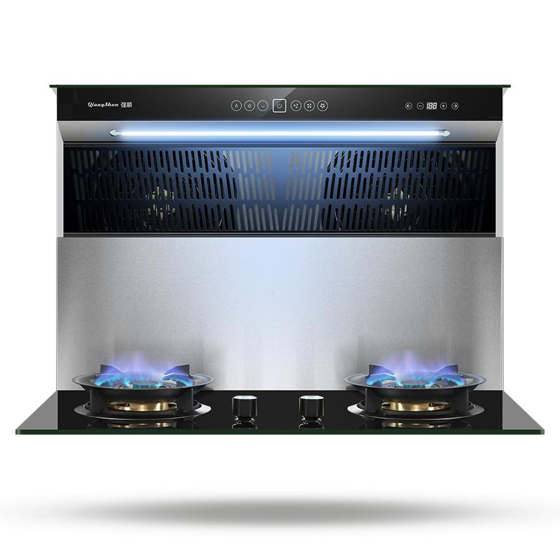 强顺 分体式集成灶一体灶家用双电油烟机燃气灶套餐侧吸自动清洗