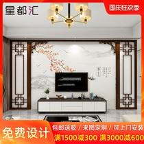 中国风壁纸壁画祥云新无纺布墙纸装饰客厅电视背景墙中式墙布水墨