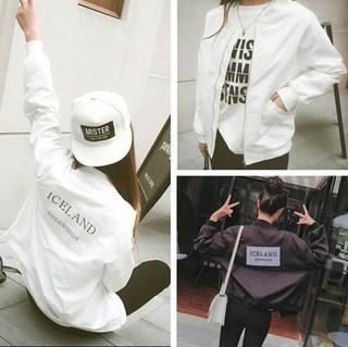 2019夏季新款女百搭长袖防晒衣薄短款外套宽松春秋棒球服韩版学。