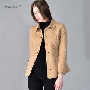 艾薇诺伊2020冬季爆款棉衣女中长款韩版修身长袖保暖外套薄棉服女