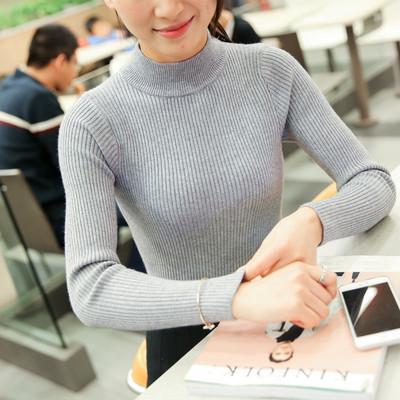 韩版 加厚打底针织衫 毛衣女秋冬宽松套头外套女装 2018新款 线衣秋装