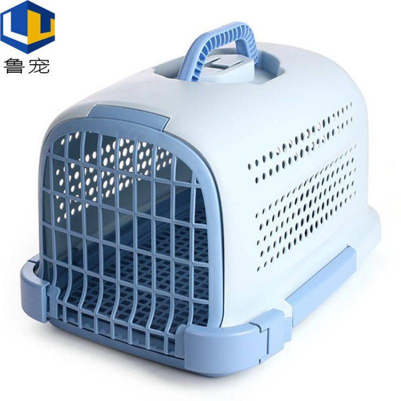 ペット用のおしぼり箱と犬用のケージを携帯して外出する託送箱の犬の猫の携帯型のスーツケースを送ります。