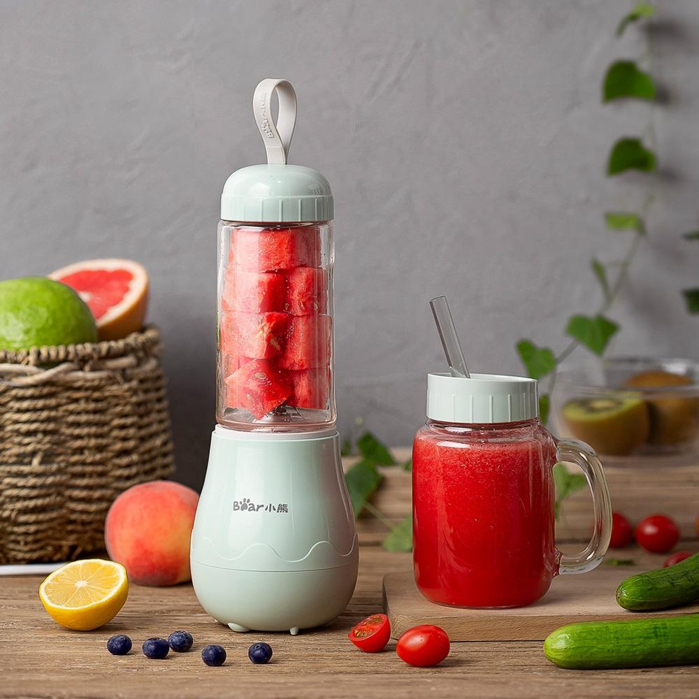 限10000张券小熊玻璃榨汁机家用梅森杯迷你水果小型炸果汁电动多功能榨汁杯