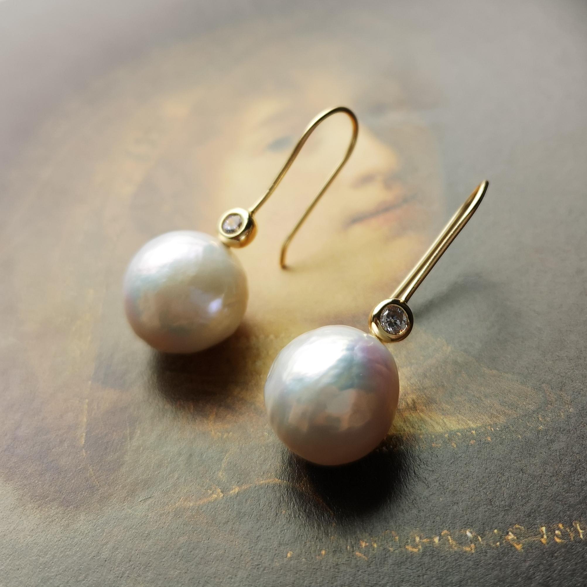 耳畔艺术【戴珍珠耳环的少女】巴洛克珍珠耳环耳饰精致复古925银