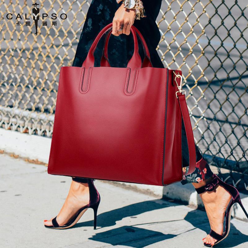 包包2021新款手提托特包大容量女士斜挎包大包时尚2020真皮女包潮