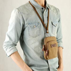 KCE帆布男包手机包零钱包户外小挂包街头潮流腰包迷你男士小包包