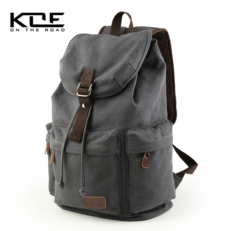 Simple men's Canvas Backpack junior high school students' schoolbag trend leisure large capacity Travel Bag Backpack men's bag