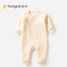 Tongtai baby hatchwear new baby plain color open warm boneless closed crotch one piece baby creeper 19 new