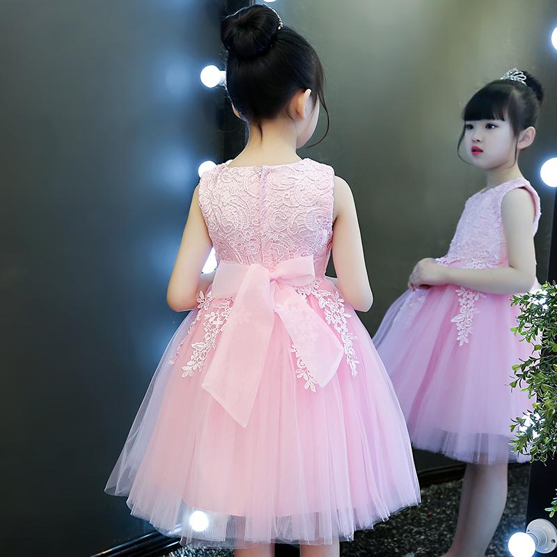 女童公主裙2019新款小女孩童装超洋气蓬蓬纱夏装裙子儿童连衣裙春