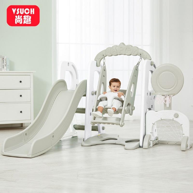 宝宝滑滑梯儿童室内家用小型婴儿秋千组合小孩幼儿大型玩具游乐场