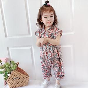 女宝宝2021新款儿童夏季外出哈衣