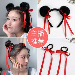 同款哪吒丸子頭髮可愛寶寶髮帶小女孩頭繩兒童髮飾髮卡髮箍頭飾品