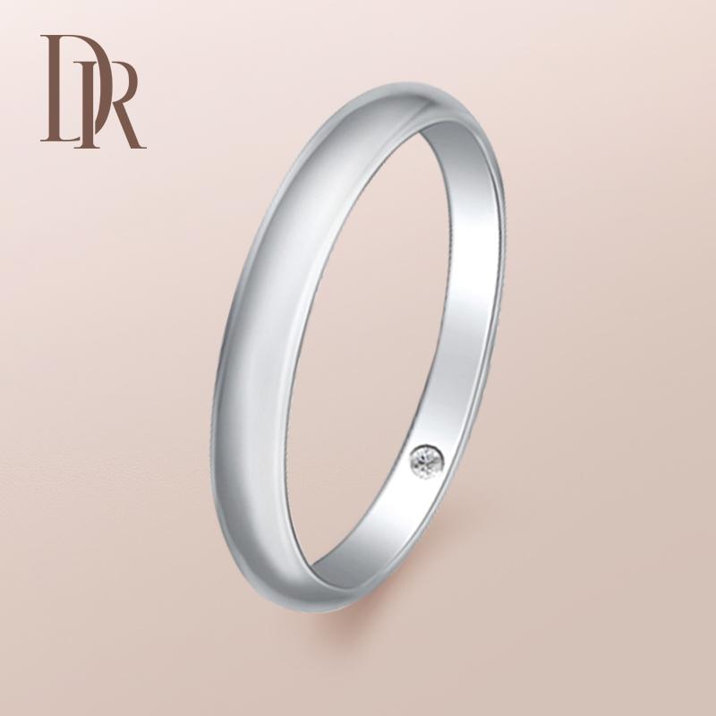 DR PRINCESS系列爱在心中男戒男士钻戒镶钻戒指送男友定制18K白金