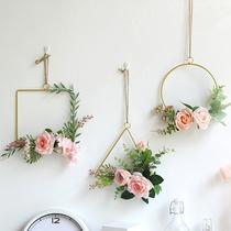创意奶茶店房间卧室内餐厅墙上墙面装饰品墙壁挂件北欧客厅挂墙花