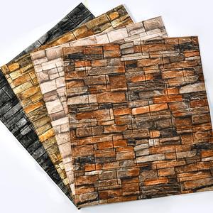 复古防水防潮3d立体泡沫砖纹背景墙
