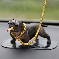 个性创意恶霸犬汽车摆件网红社会犬仿真狗狗车内饰品摆件装饰用品